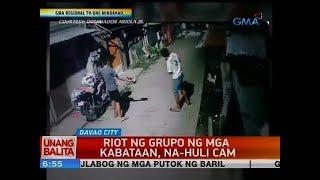 UB: Riot ng grupo ng mga kabataan, na-huli cam