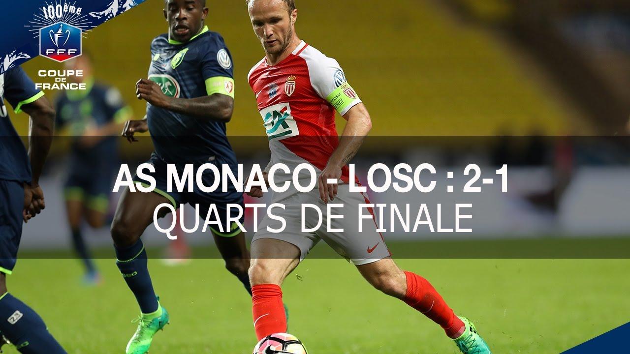 Coupe de france quarts de finale as monaco losc 2 1 - Quarts de finale coupe de france ...