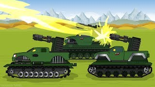 "Tank cartoon ""Monster trucks became a tanks"""