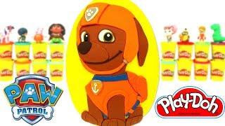 Ovo Surpresa Gigante do Zuma da Patrulha Canina em Português Brasil de Massinha Play Doh