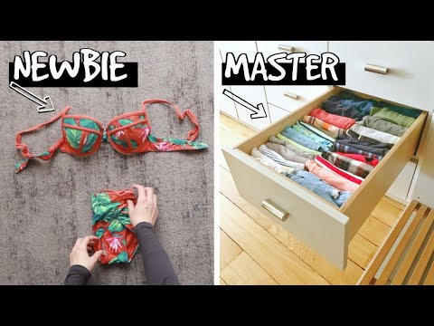 👚 HOW TO FOLD CLOTHES VERTICALLY| Easy KONMARI FOLDING Method Tutorial to Fold ANYTHING Super Fast!