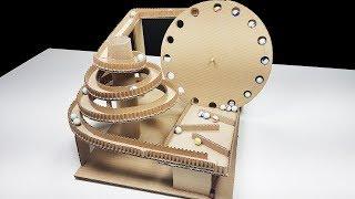 Máquina de Marble Run Automático de Cartón, Circuito de Carreras Para Canicas | Sagaz Perenne