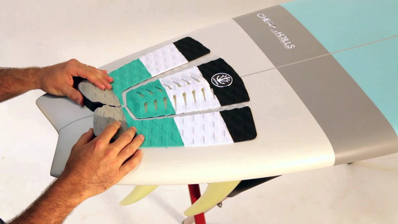 how to install a Surfboard deck grip   traction pad - YouTube fd2c0822bae0