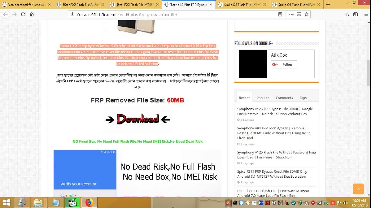 Tecno Cf7 Da File Download