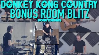 Donkey Kong Country | Bonus Room Blitz [Drum/Guitar/Bass/Keyboard Cover] DonutDrums