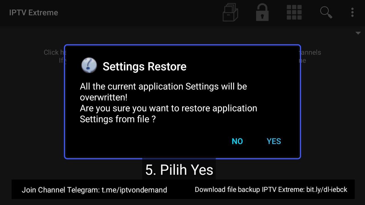 [Tutorial] Cara Restore Playlist File Backup IPTV Extreme