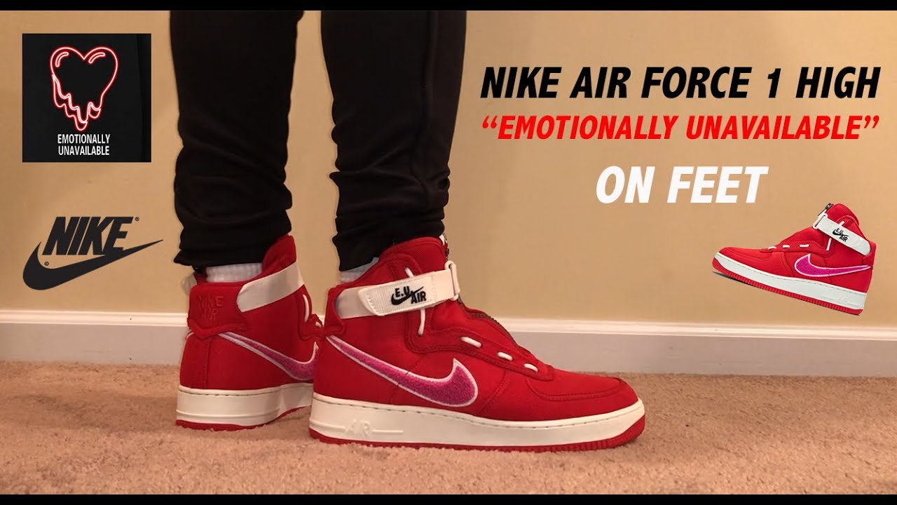promo code da40a 10247 Nike Air Force 1 High Emotionally Unavailable On Feet Review