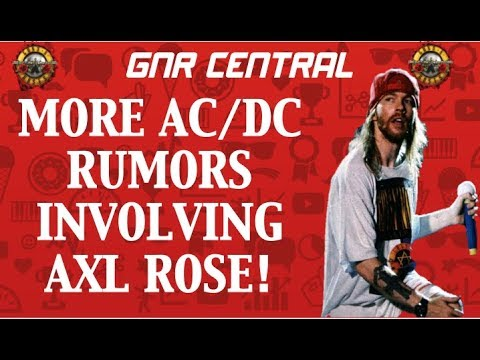 Guns N' Roses News:  AC/DC Rumors, American Dad Pokes Fun Of Axl Rose! Vicky Hamilton Shout Out!
