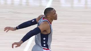 Russell Westbrook Mad at himself after he misses Game Winner !