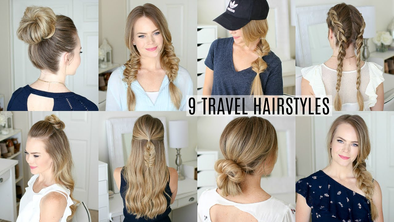 9 EASY Travel Hairstyles