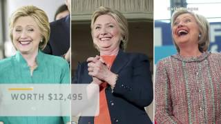 Hillary Clinton wore a $12,495 Armani jacket during a speech about inequality