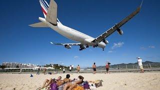 Опасные моменты во время посадки и взлета самолетов| Dangerous landing and take-off of aircraft