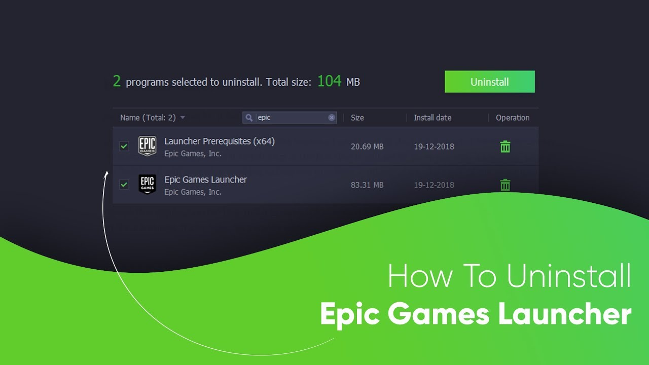 How to Uninstall Epic Games Launcher - YouTube