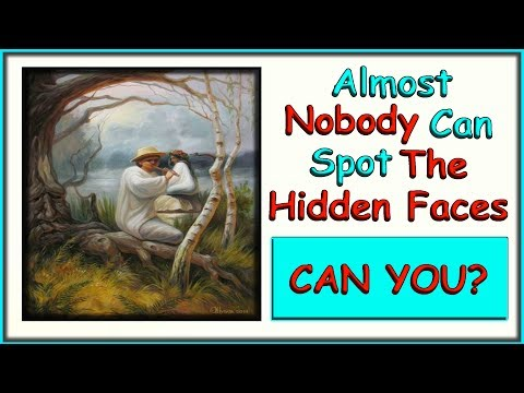 Almost Nobody Can Spot The Hidden Faces । Brain Teasers । Mind Tricks