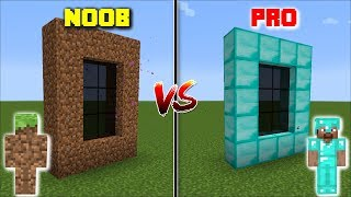 Minecraft NOOB DIMENSION VS PRO DIMENSION / GO INSIDE THE DIRT AND DIAMOND DIMENSION !! Minecraft