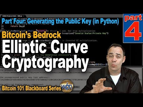 Bitcoin 101   Elliptic Curve Cryptography   Part 4   Generating the Public Key in Python