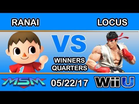 MSM 98 - Ranai (Villager) Vs. Locus (Ryu) Winners Quarters - Smash Wii U