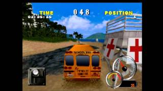 Test Drive Off-Road 2 (PS1) Gameplay 1 - School Bus