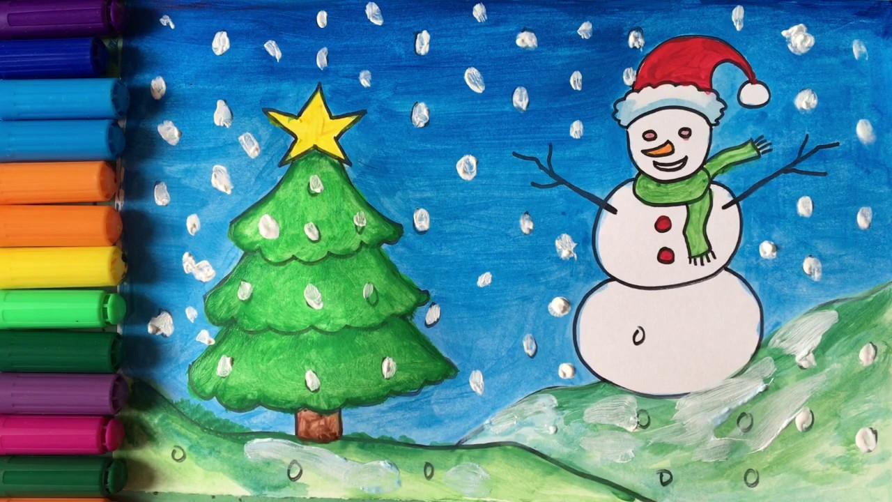 draw and colour christmas