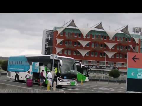 Boarding Flibco Bus At Charleroi Airport Brussels