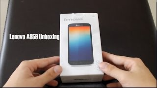 Lenovo A859 Unboxing