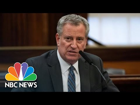 New York City Mayor Updates On Coronavirus Response | NBC News (Live Stream Recording)