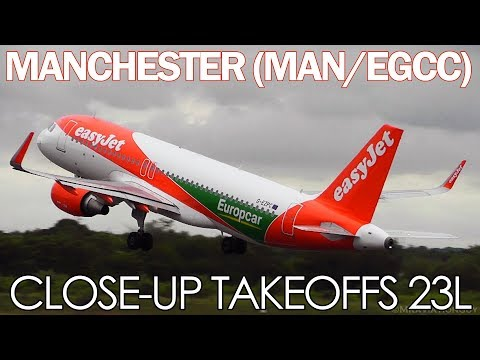 BUILDUP TO SUMMER! | 34 Takeoffs & Landings, VERY CLOSEUP at MANCHESTER (Rotate V3)