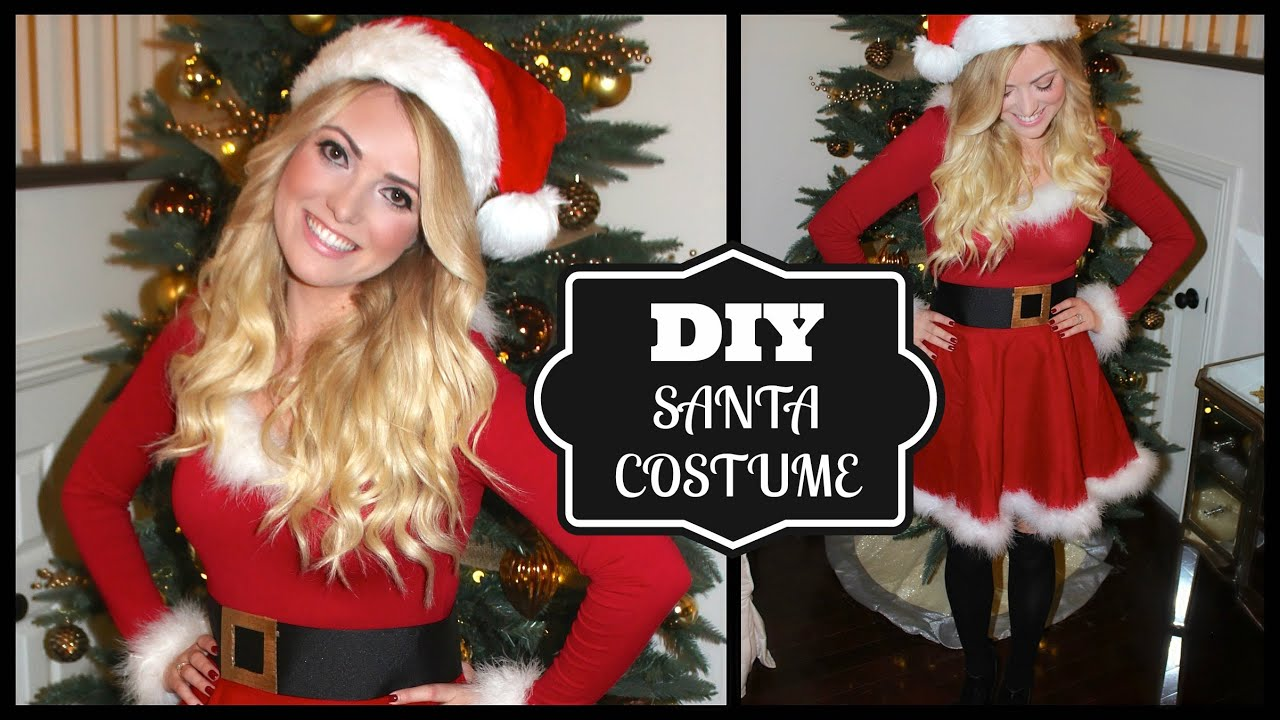 Diy cute santa costume style by dani youtube solutioingenieria Image collections