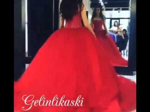 33ed002b502e6 فستان خطوبة في اللون الاحمر روعة - YouTube