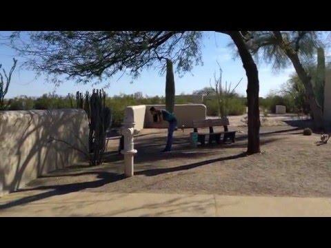 Arizona. Casa Grande Ruins. Древнее поселение индейцев