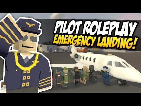 PLANE PILOT RP - Unturned Roleplay   No Fuel Emergency Landing! thumbnail
