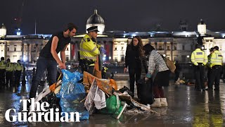 Police clear Extinction Rebellion protesters from Trafalgar Square overnight