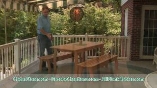 Red Cedar Contoured Picnic Table From Cedarstore.com