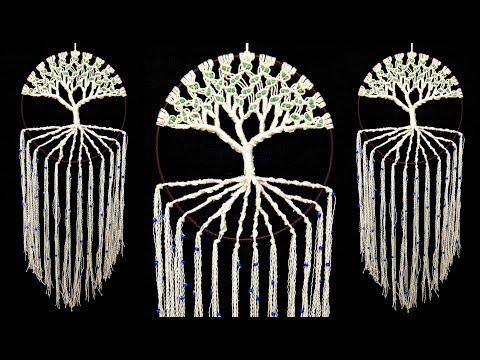 DIY Life Tree Dream Catcher | Room Decoration Ideas | Yarn Craft | Easy craft