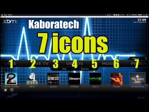 Add 7 icons to the main screen on Kodi