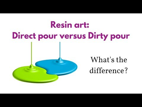 Resin painting: Dirty Pour vs Direct Pour