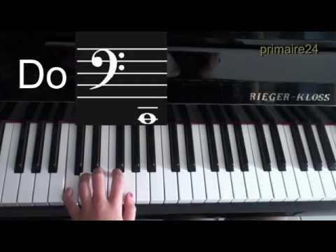 Solfège: apprendre les notes au piano : clé de fa - YouTube