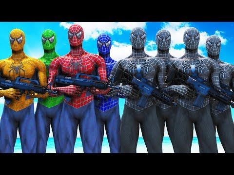 TEAM SPIDER-MAN VS BLACK SPIDERMAN ARMY