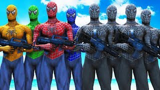 TEAM SPIDER-MAN VS BLACK SPIDERMAN ARMY