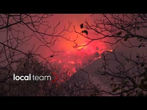 Inferno di fuoco in Val Susa: le fiamme raggiungono pericolosamente le case