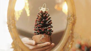 솔방울로 만드는 크리스마스 미니 트리만들기