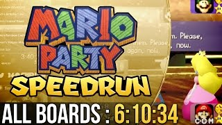 Mario Party All Boards Speedrun (Easy) in 6:10:34