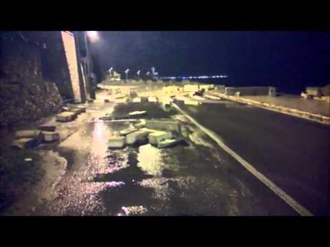 Danni registrati dopo la mareggiata del 30 gennaio 2015 a - Porta di mare cronaca nardo ...