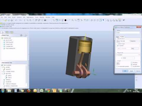 PRO ENGINEER SINGLE CYLINDER ENGINE SIMULATION