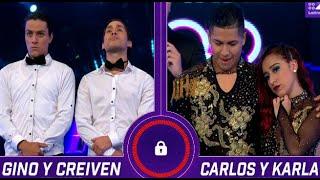Gino y Creiven vs. Carlos y Karla: Mira qué pareja será la cuarta retadora en la semifinal