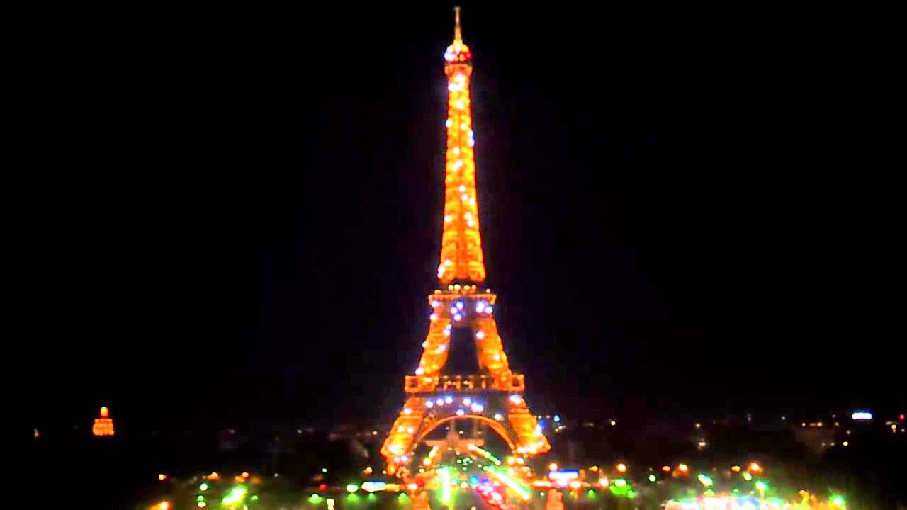 Eiffel tower at night with live background music youtube - Paris tower live wallpaper ...