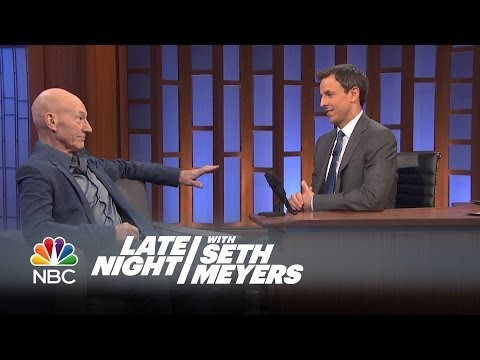 Patrick Stewart Interview, Pt. 1 - Late Night with Seth Meyers