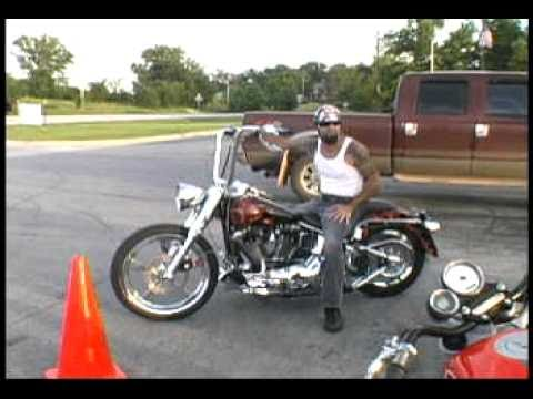 epic fail crazy Harley stunt riding & drifting practice session ILLconduct.com funny crash