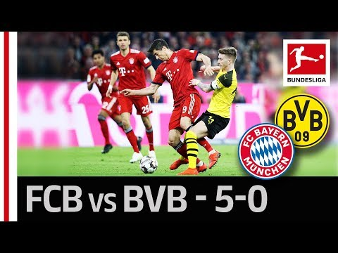 FC Bayern München vs. Borussia Dortmund I 5-0 I Lewandowski, Gnabry & Co. Strike in The Title Race