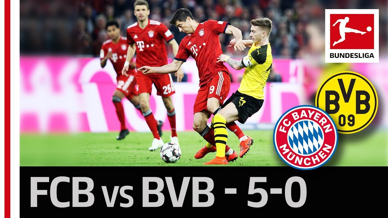 Download FC Bayern München vs. Borussia Dortmund I 5-0 I Lewandowski, Gnabry & Co. Strike in The Title Race